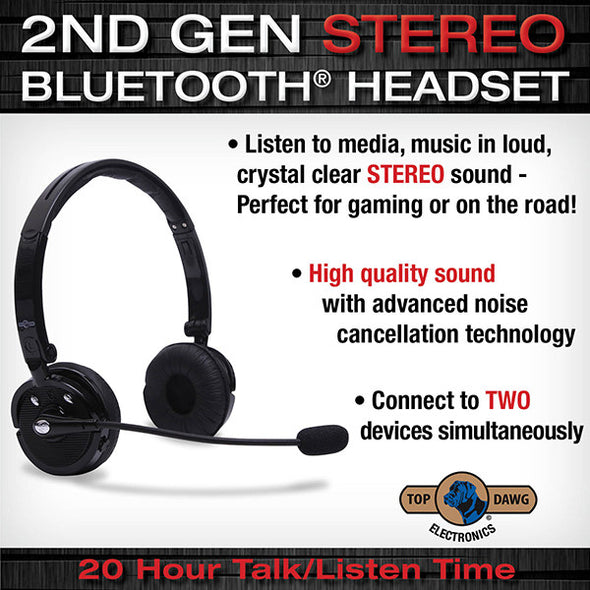 Top Dawg DUAL Ear STEREO Noise Canceling Headset