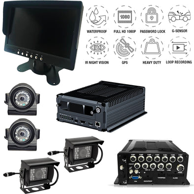 1080P MDVR FOUR (4) CAMERA WIRED DVR SYSTEM