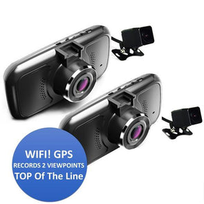 4 Camera Dash Camera System with WIFI