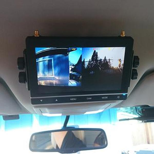 "9"" Quad Screen Digital Wireless LCD with DVR (Cameras NOT included)"