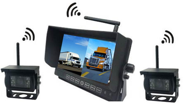 "DIGITAL WIRELESS Heavy Duty Backup Camera System with 2-3 or 4 Cameras with 7"" LCD!"