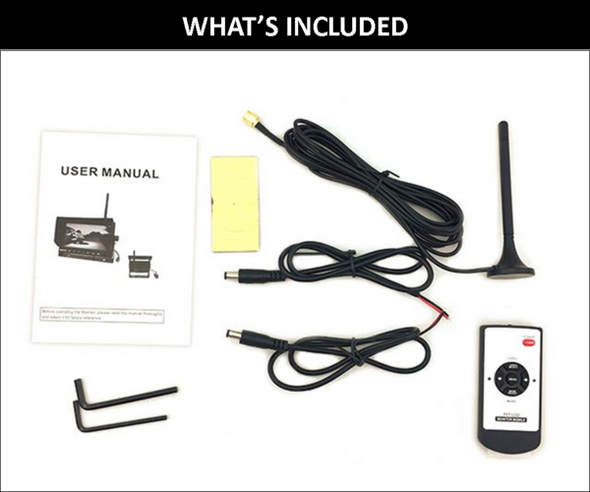 DIGITAL WIRELESS BACKUP QUAD (4) CAMERA SYSTEM