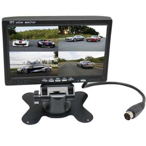 "Trucker MDVR GPS/WIFI System w/ 3 Cameras & 7"" LCD  - up to 128GB (64 GB included), 360 Degree Coverage - FalconEye Trucker Dash Cams  - 5"