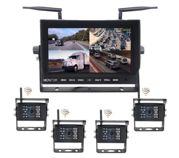 QUAD (4) CAMERA DIGITAL WIRELESS DVR CAMERA SYSTEM