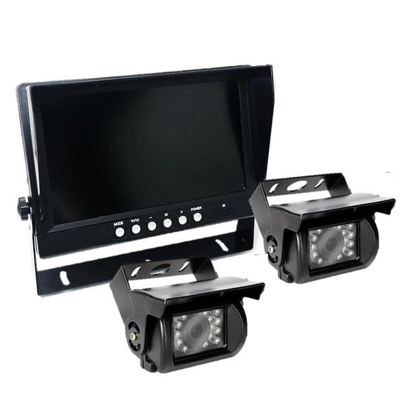 TWO (2) CAMERA WIRED CAMERA SYSTEM WITH DVR FOR 5TH WHEEL