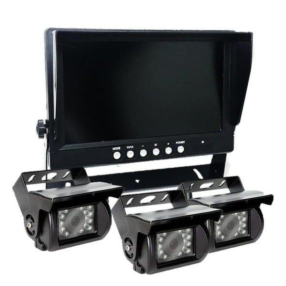 THREE (3) CAMERA WIRED CAMERA SYSTEM WITH DVR FOR 5TH WHEEL