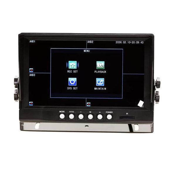 FOUR (4) CAMERA WIRED CAMERA SYSTEM WITH DVR FOR 5TH WHEEL