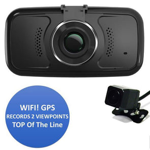 DUAL Camera Dash Camera with WIFI