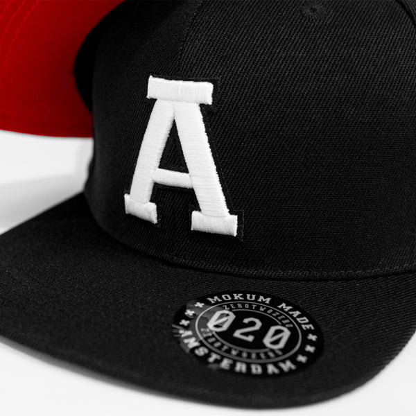 """A"" CAP BLACK/WHITE"