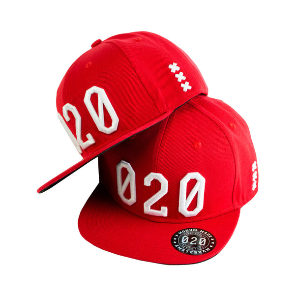 Mokum Made cap (020 serie) Red/White