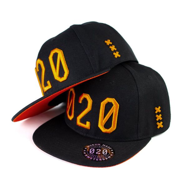 020 Cap BLACK/ORANGE