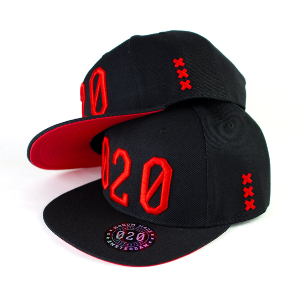 020 Cap BLACK/RED