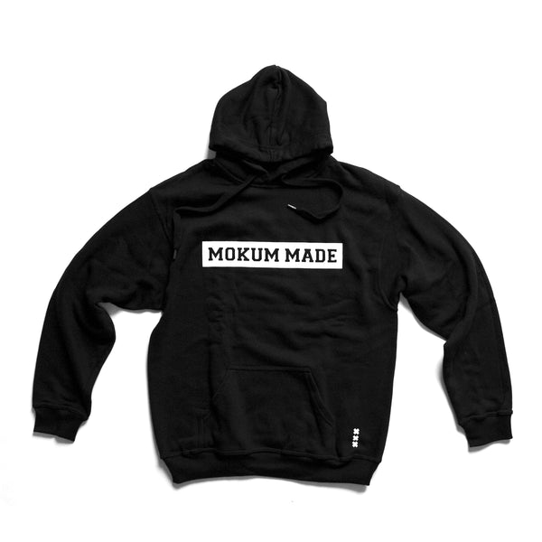 Hoodie Mokum Made - Black/White