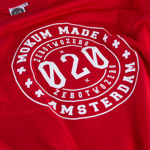 Mokum Made crew shirt - Red/White
