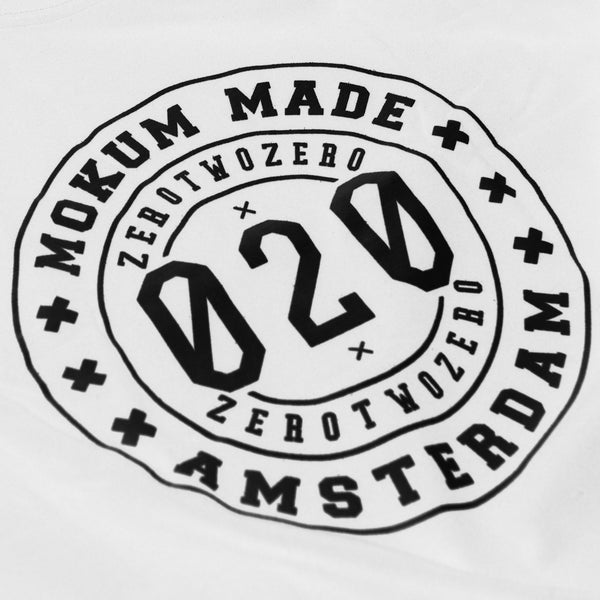 Mokum Made crew shirt - White/Black