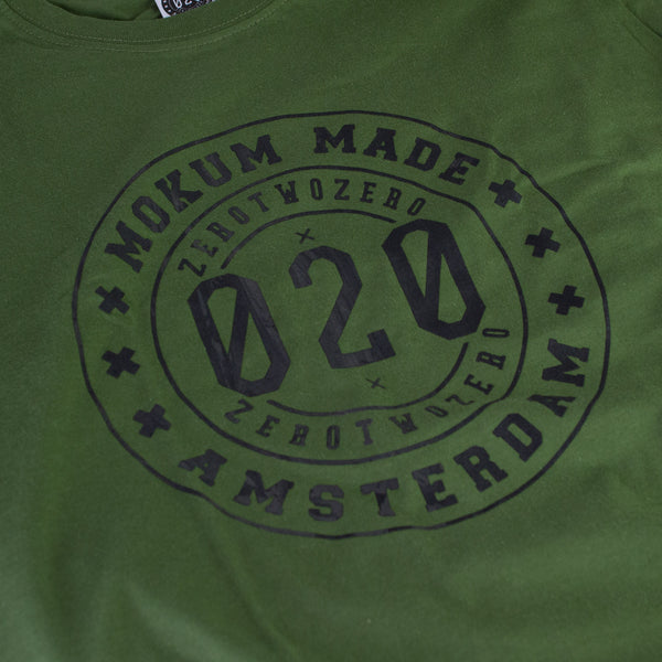 Mokum Made crew shirt - Green/Black