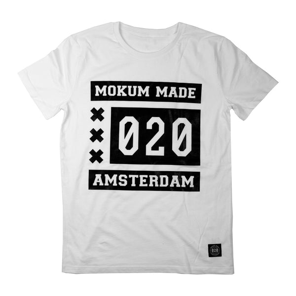 Mokum Made shirt - White/Black