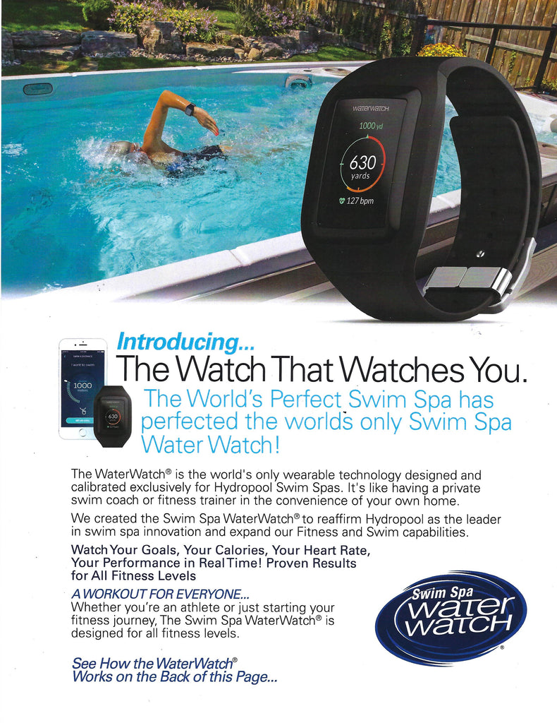 The Perfect Swim Spa has perfected the world's only Swim Spa Water Watch!