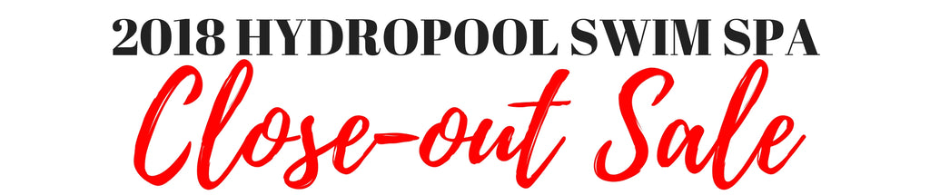 Hydropool Swim Spa end of the year close-out sale