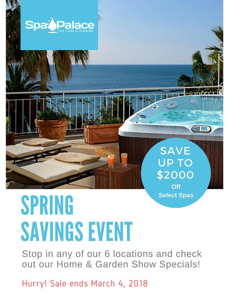 $2000 Savings Pass to use on a NEW hot tub* – Spa Palace