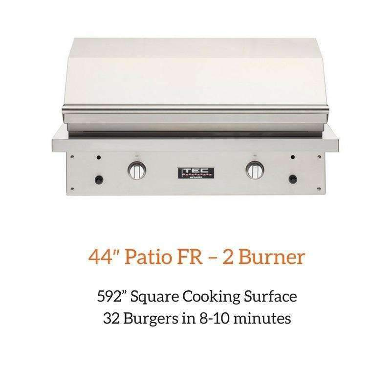 TEC 44″ Patio FR – 2 Burner Grill | Spa Palace