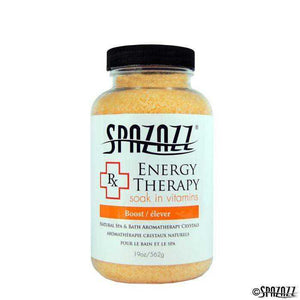 SpaZazz Crystals 19 oz - RX Collection - Energy Therapy