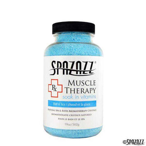 Spazazz RX Therapy Crystals Container Bath Minerals, 19-Ounce, Muscular Therapy Hot N' Icy