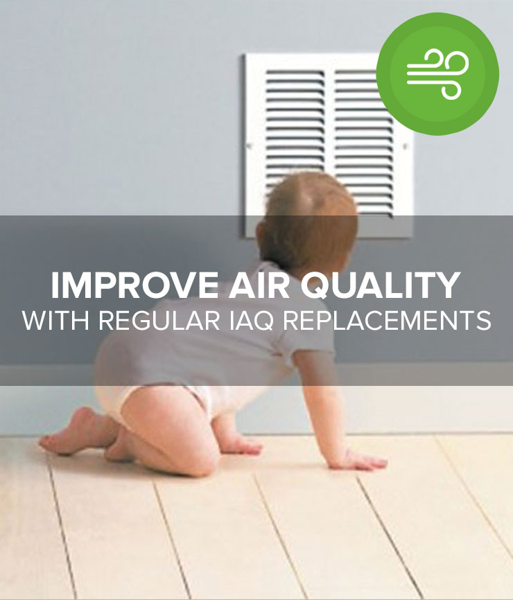 Improve Air Quality with Regular IAQ Replacements