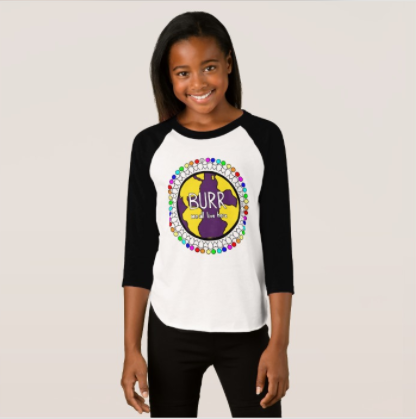 Burr Elementary Girls 3/4 Sleeve ACT Shirt