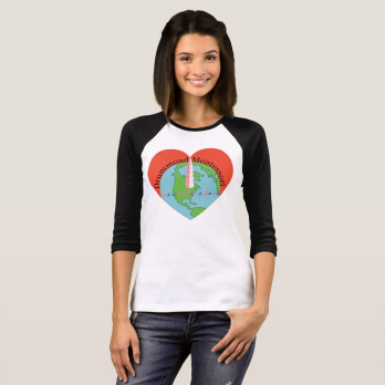 Women's 3/4 Sleeve Raglan Tee Shirt - Drummond