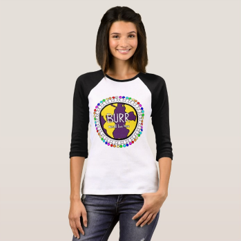 Burr Elementary Women's 3/4 Sleeve Raglan Tee Shirt - Adult