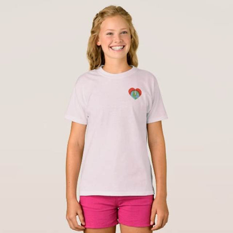 we all live here Drummond Logo Girls Tee