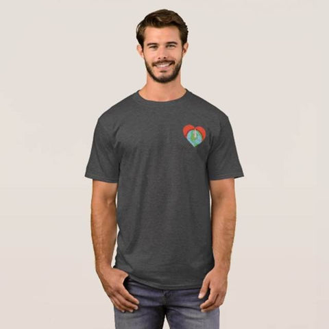 we all live here Drummond Logo Adult Tee