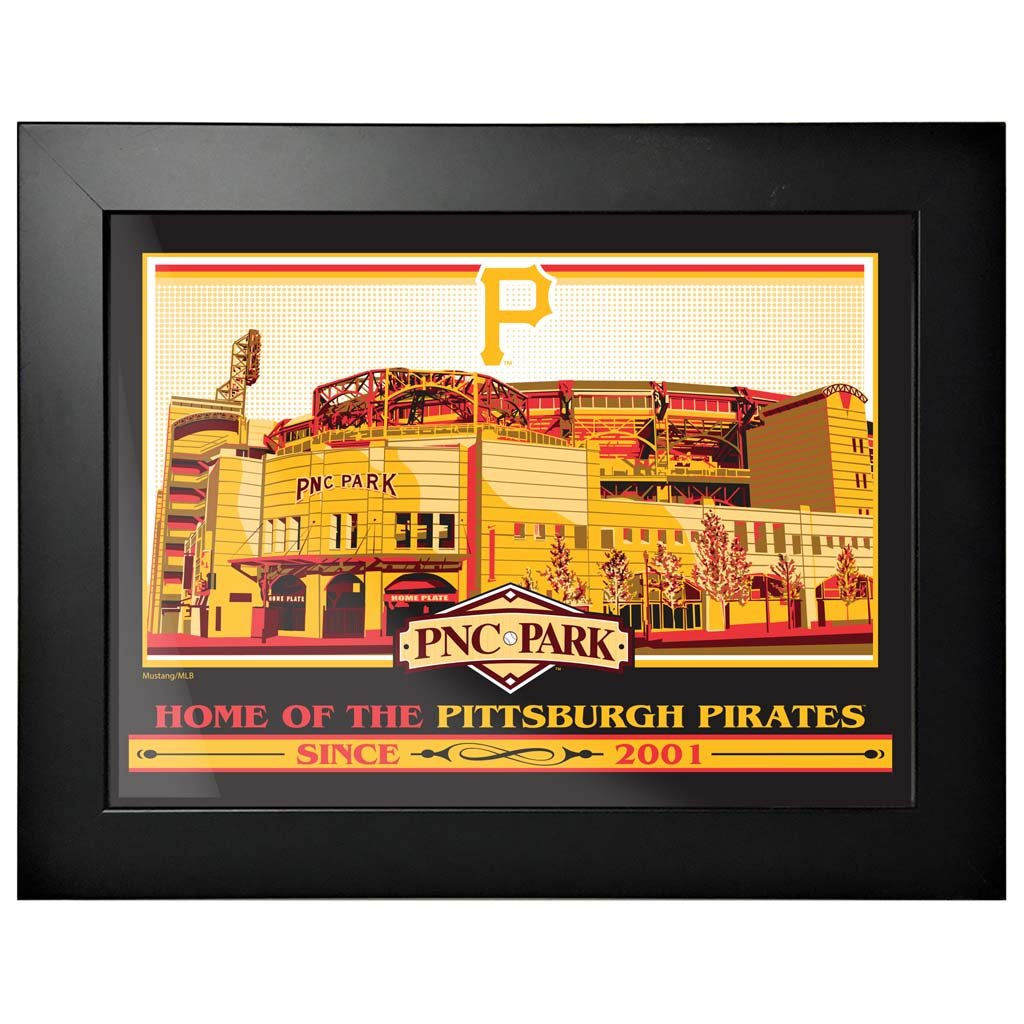 Pittsburgh Pirates 12x16 Ballpark Framed Artwork