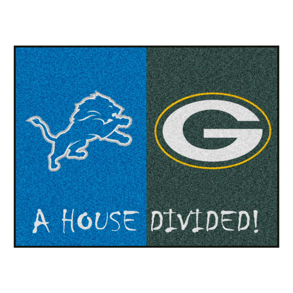 NFL House Divided - Lions / Packers House Divided Mat