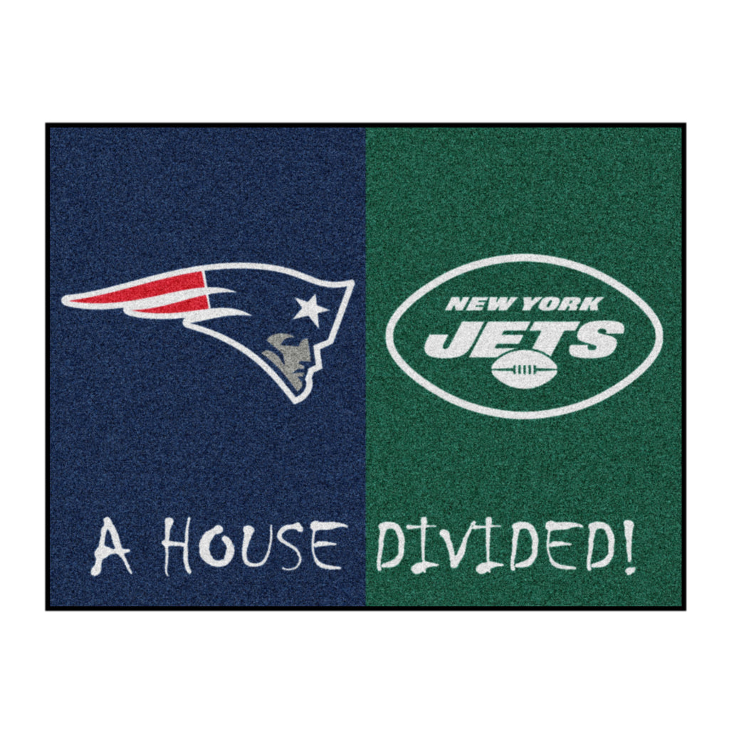 NFL House Divided - Patriots / Jets House Divided Mat
