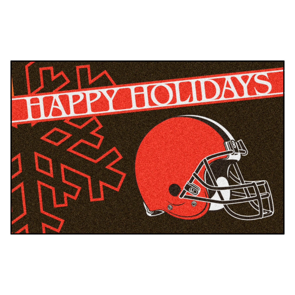 NFL - Cleveland Browns Starter Mat - Happy Holidays