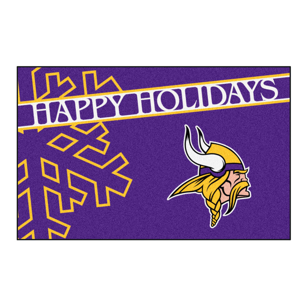 NFL - Los Angeles Chargers Starter Mat - Happy Holidays