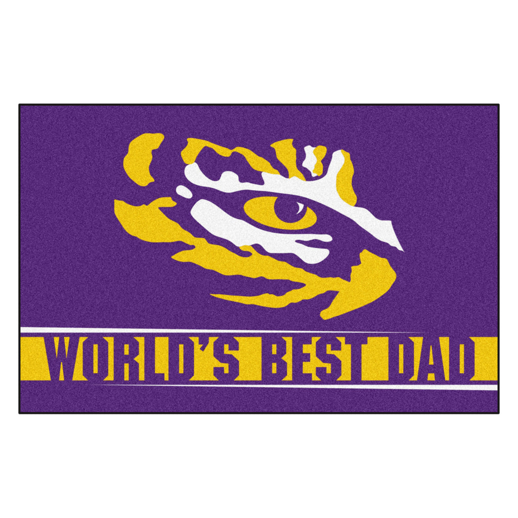Louisiana State University Starter Mat - World's Best Dad