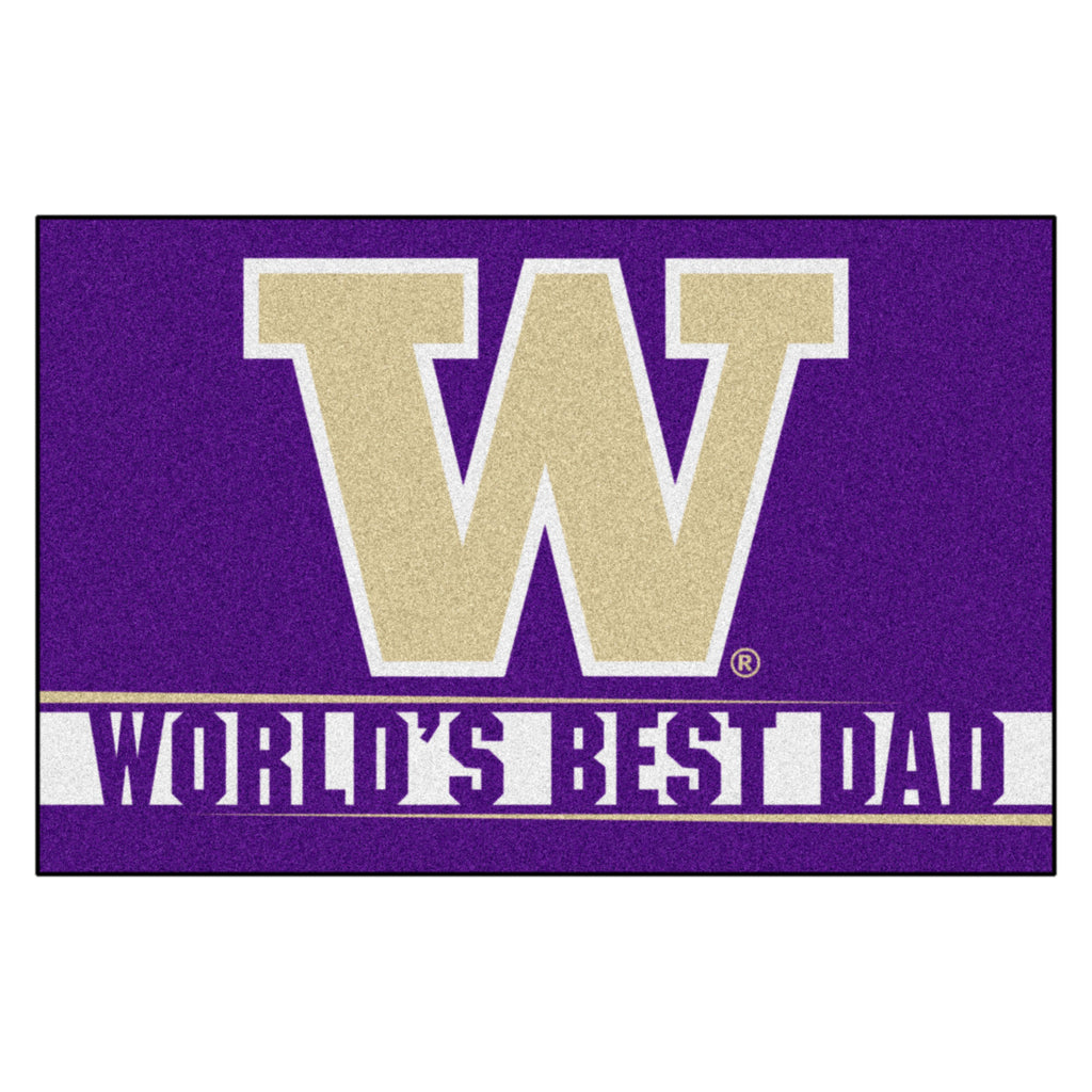 University of Washington Starter Mat - World's Best Dad