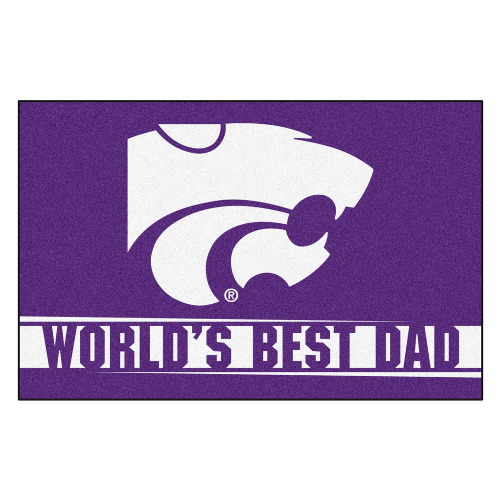 Kansas State University Starter Mat - World's Best Dad