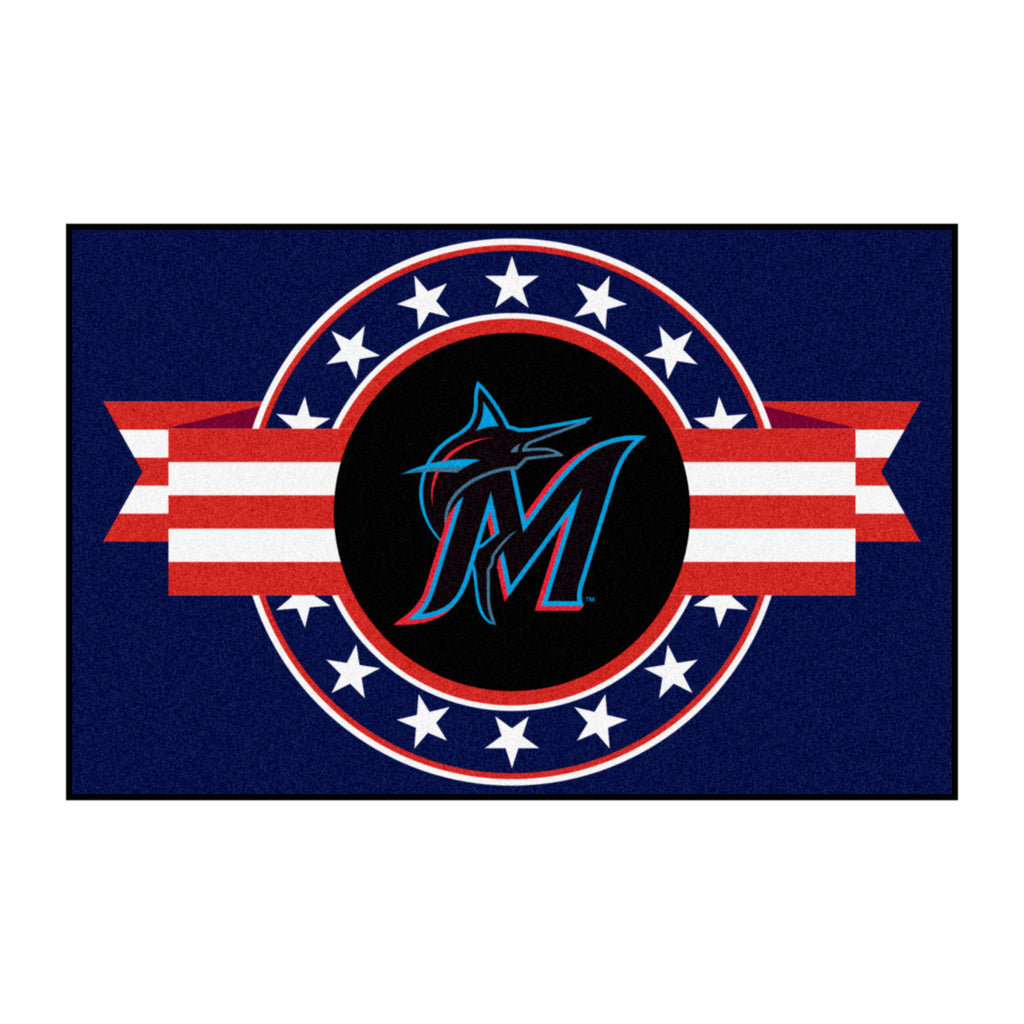 MLB - Miami Marlins Starter Mat - MLB Patriotic