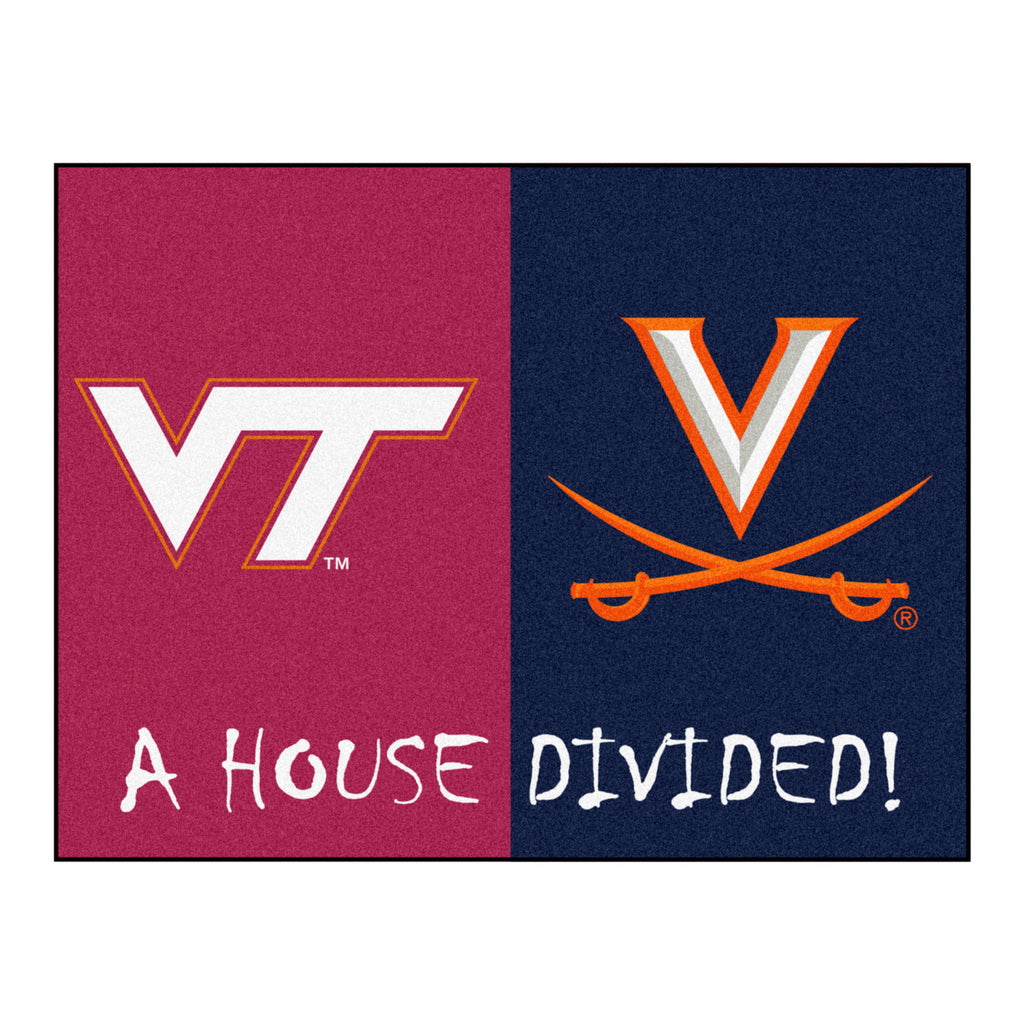 House Divided - Virginia Tech / Virginia House Divided Mat