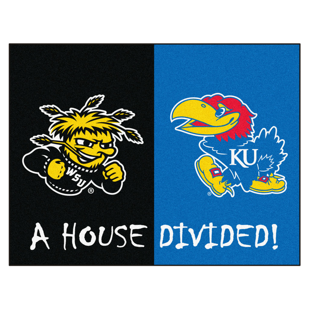 House Divided - Wichita State / Kansas House Divided Mat