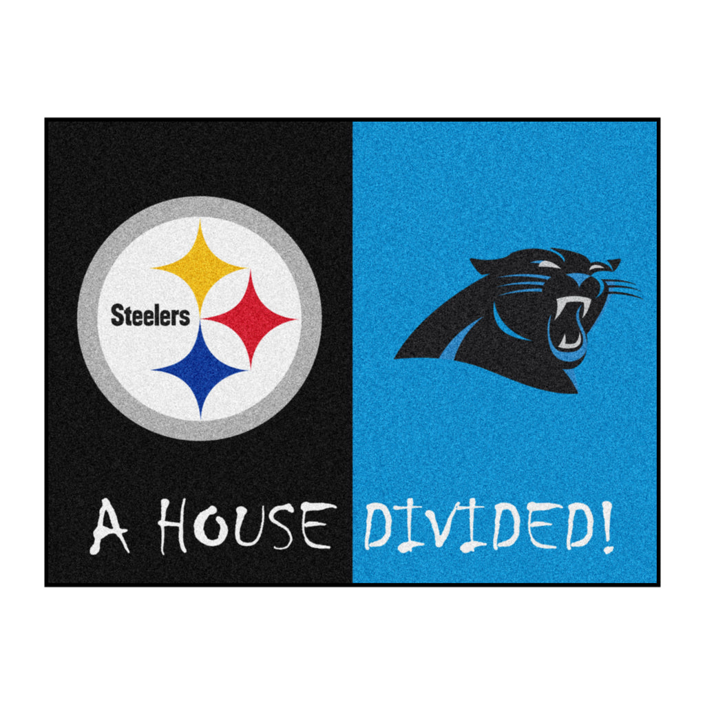 NFL House Divided - Steelers / Panthers House Divided Mat