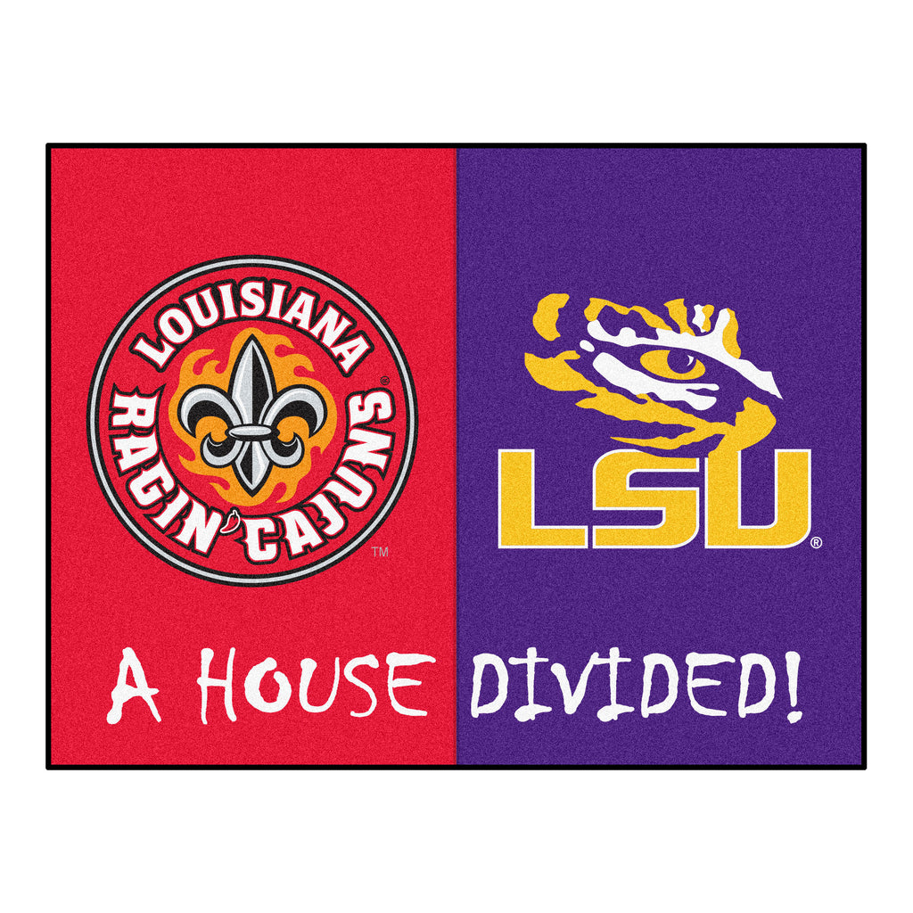 House Divided - UL-Lafayette / LSU House Divided Mat
