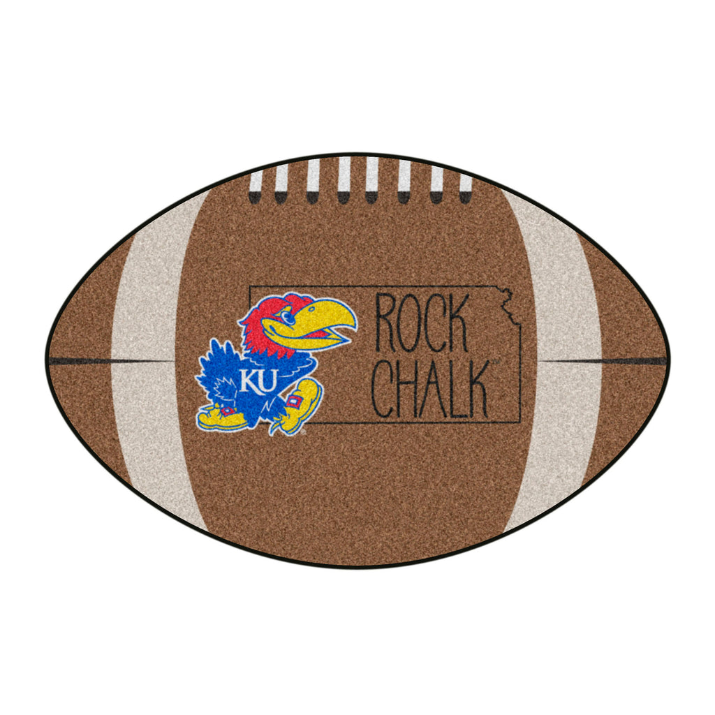 University of Kansas Southern Style Football Mat