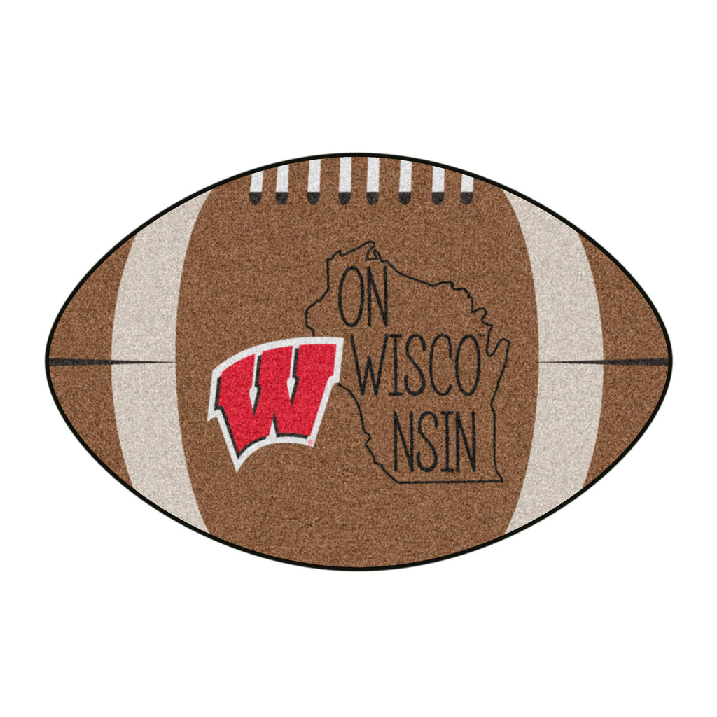 University of Wisconsin Southern Style Football Mat