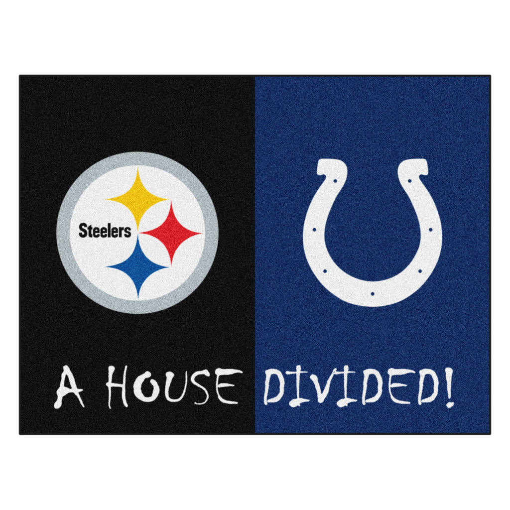 NFL House Divided - Steelers / Colts House Divided Mat