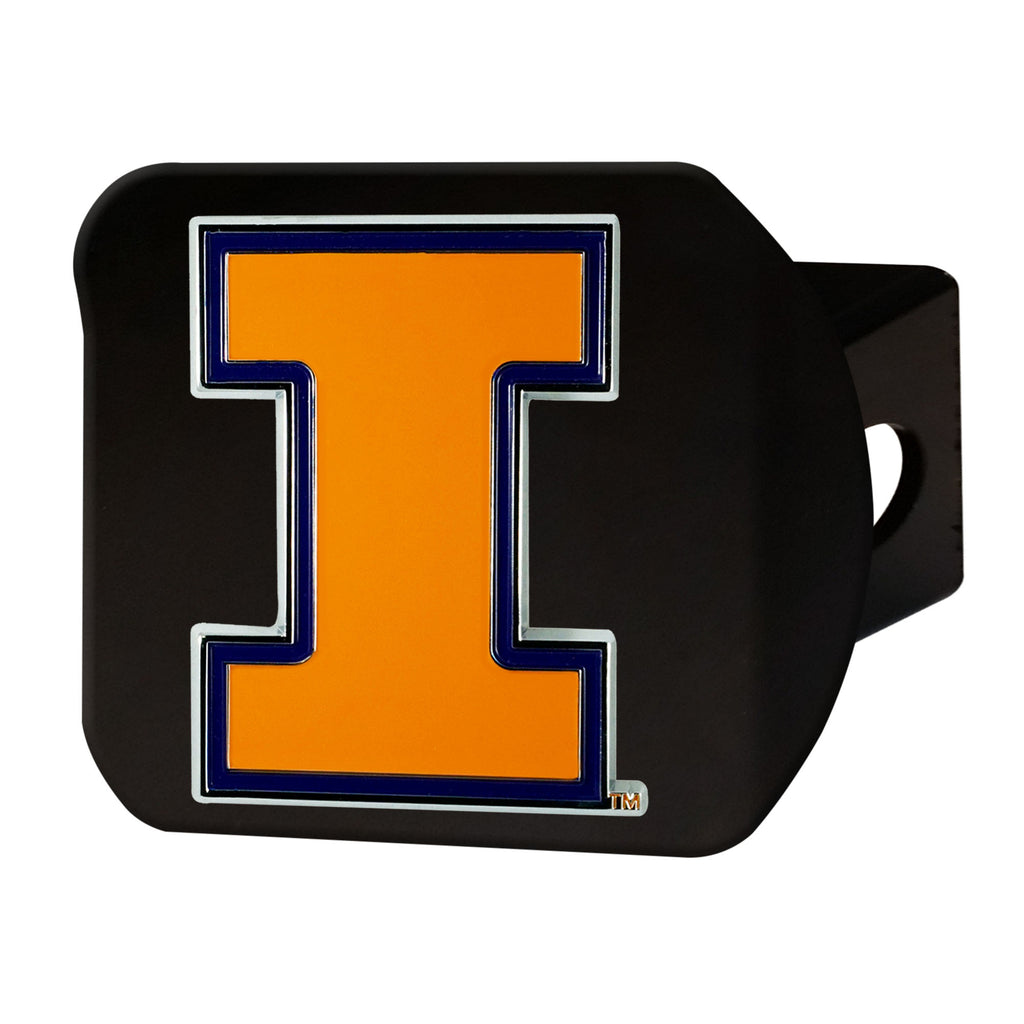 University of Illinois Color Hitch Cover - Black